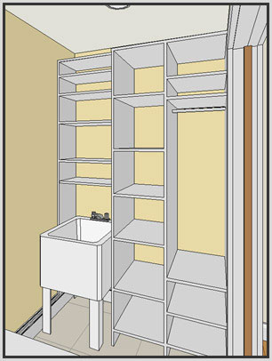 Storage Space Illustration